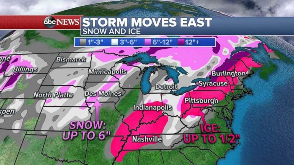 PHOTO: A snow could bring up to a foot snow to parts New England.