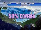 Days before the official start of winter, about half the United States is covered in snow.