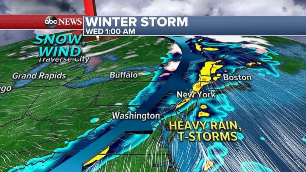 A Winter storm is set to hit the Eastern half of the US this week.