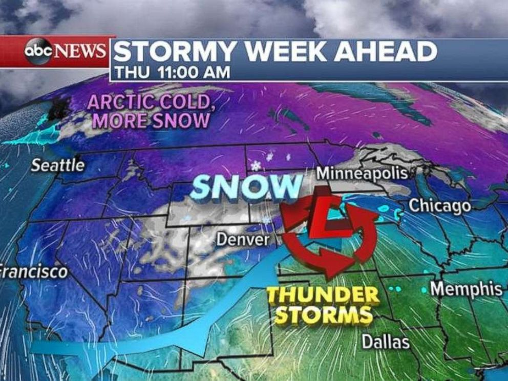 Two storm systems are expected to move through the country this week.