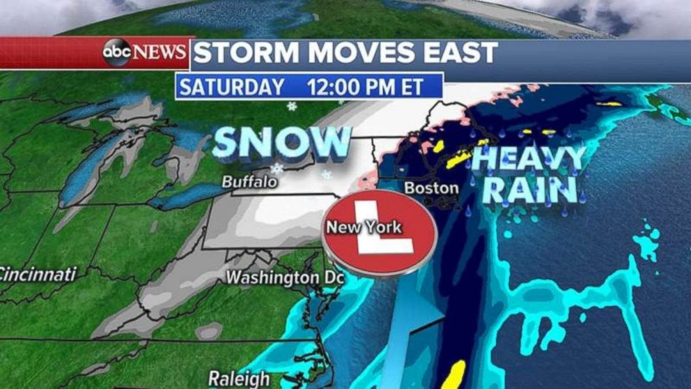 Flood Watches were in place along the East Coast on Thursday.