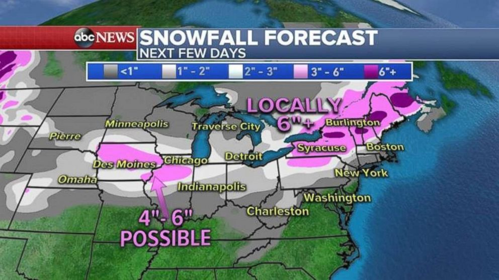 Winter Storm Forecast: Heavy Snow in Afternoon, Early Eve in NH