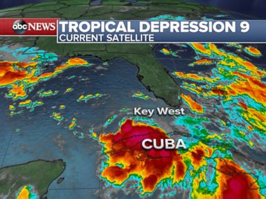 PHOTO: Tropical Depression 9 is seen here.