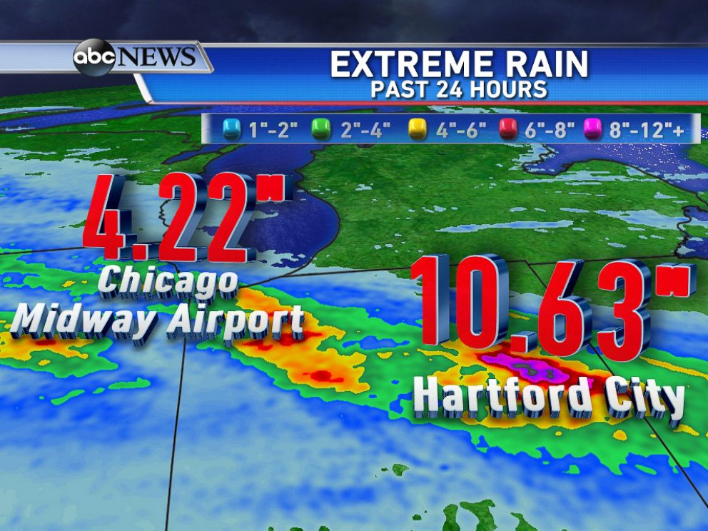 PHOTO: Heavy rain across the midwest brings flash flooding.