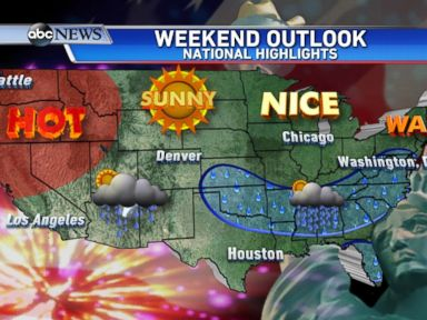 PHOTO: National Weather Outlook for the 4th of July Holiday Weekend