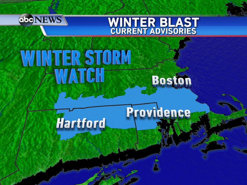 PHOTO: Any Winter Storm Watch has become within effect from Hartford, Connecticut in order to Boston, Massachusetts regarding an additional round of accumulating snow arriving Sunday afternoon into Sunday night.
