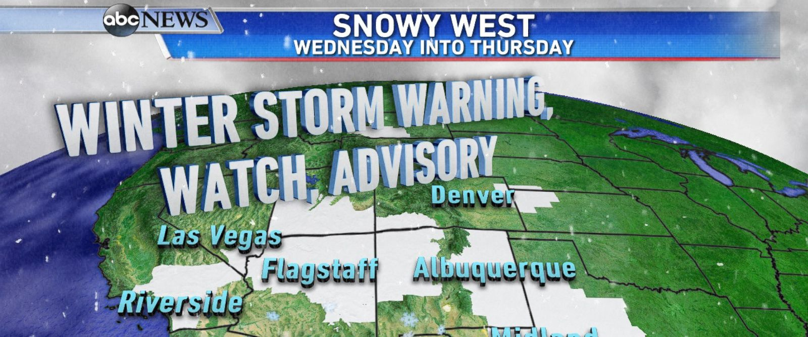 PHOTO: Winter Storm Warnings and Advisories across the Southwest