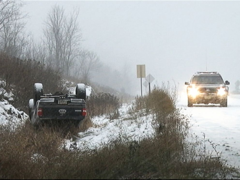 PHOTO: Roads are covered in snow as a winter storm hits central Wisconsin, Nov. 10, 2014.