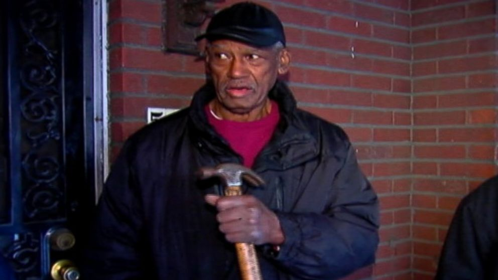 PHOTO: An 82-year-old man fought back against an intruder by using a hammer.