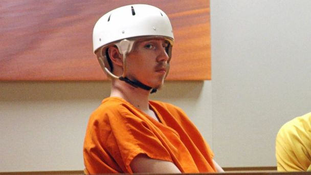 PHOTO:Victor Sibson appears for his arraignment in Anchorage Superior Court, May 23, 2017, in Anchorage, Alaska. He's accused of shooting himself, but authorities say the bullet went through his head and killed his girlfriend, Brittany-Mae Haag.
