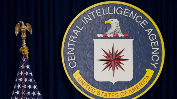PHOTO: This April 13, 2016, file photo shows the seal of the Central Intelligence Agency at CIA headquarters in Langley, Va.