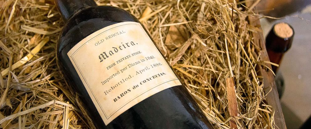 PHOTO: A six-month restoration project at Liberty Hall Museum in Union, N.J., uncovered three cases of Madeira wine dating to 1796 and about 42 demijohns from the 1820s while restoring its wine cellar.