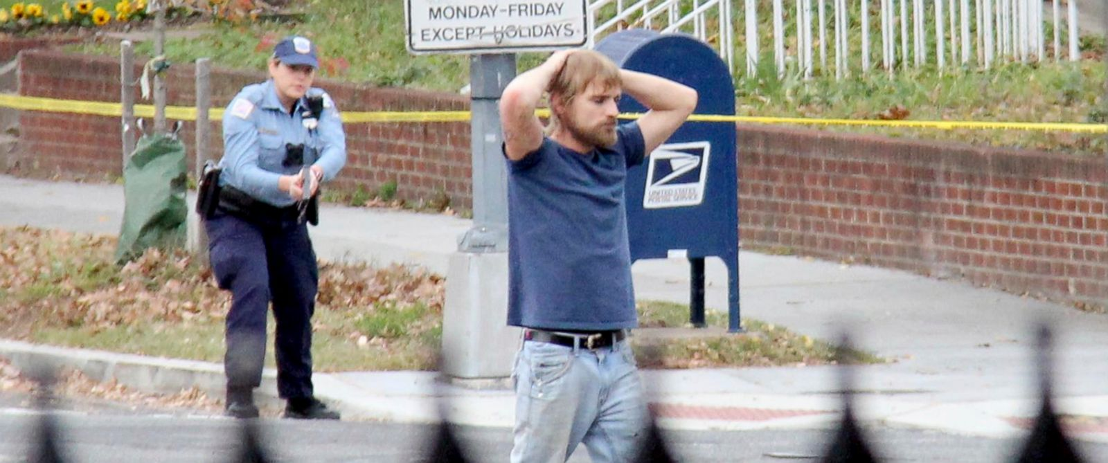 PHOTO: Edgar Maddison Welch, 28 of Salisbury, North Carolina, surrenders to police, Dec. 4, 2016, in Washington.