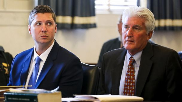 PHOTO: Former University of Cincinnati police officer Raymond Tensing, left, listens during his retrial, June 16, 2017, at the Hamilton County Courthouse in Cincinnati.