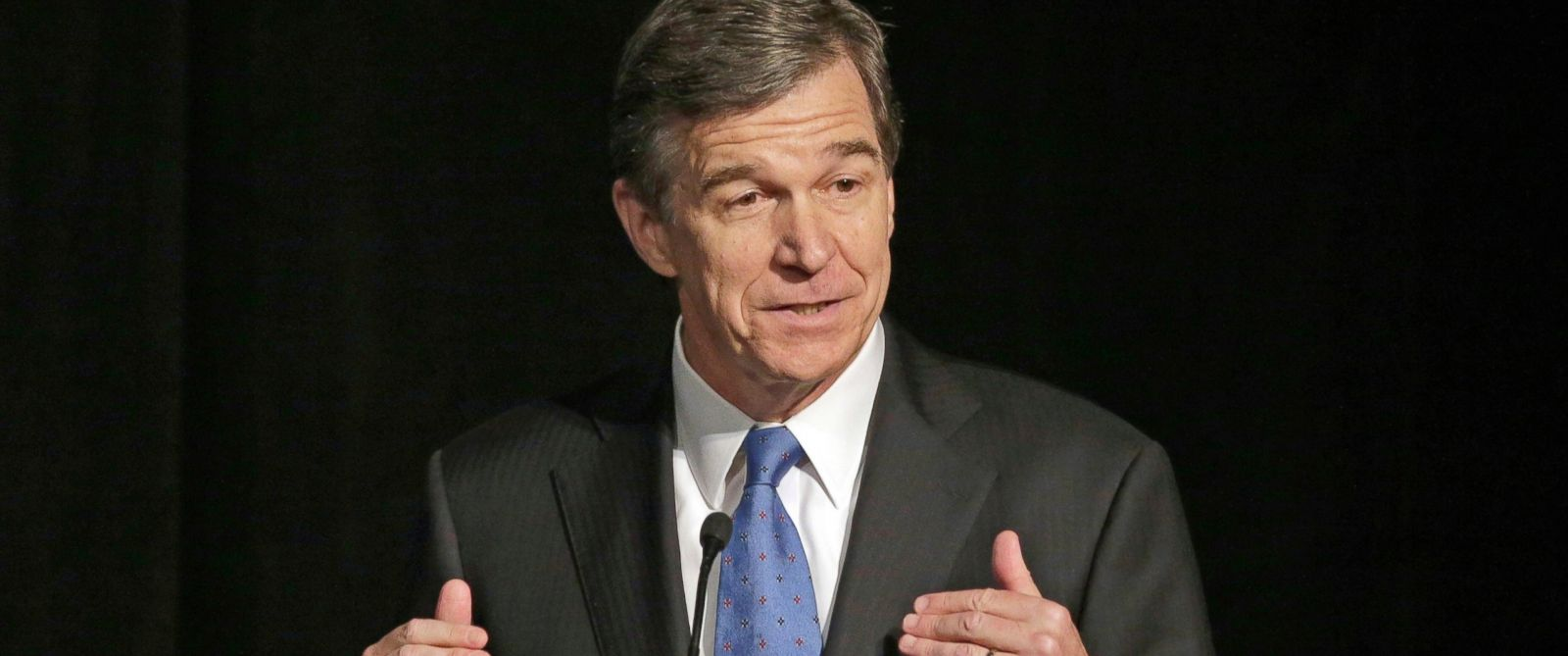 PHOTO: In this June 24, 2016, file photo, North Carolina Attorney General Roy Cooper speaks during a forum in Charlotte, North Carolina.