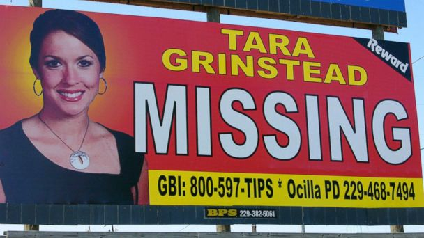 PHOTO: A photo of missing teacher Tara Grinstead is prominently displayed on a billboard in Ocilla, Georgia, Oct. 4, 2006.
