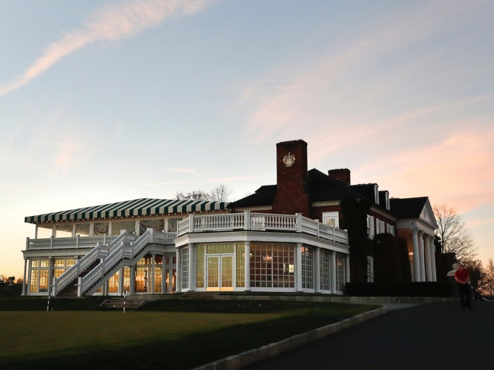 PHOTO: The clubhouse of Trump National Golf Club Bedminster in Bedminster, New Jersey, is pictured, Nov. 18, 2016, before the arrival of President-elect Donald Trump.