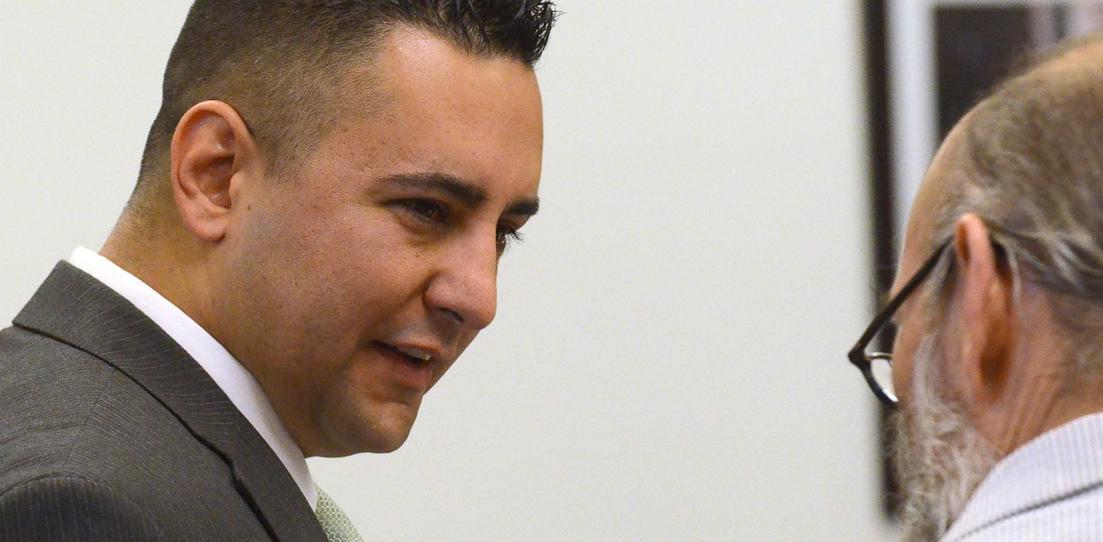 PHOTO: Former Albuquerque Police Officer Levi Chavez enters court on June 13, 2013 in Bernalillo, N.M.