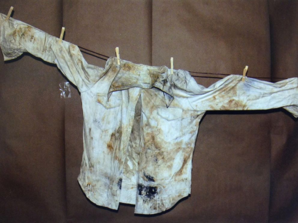 PHOTO: In this undated photo provided by the South Dakota Attorney Generals Office, clothing found from the 1960 Studebaker unearthed in September 2013 is seen.