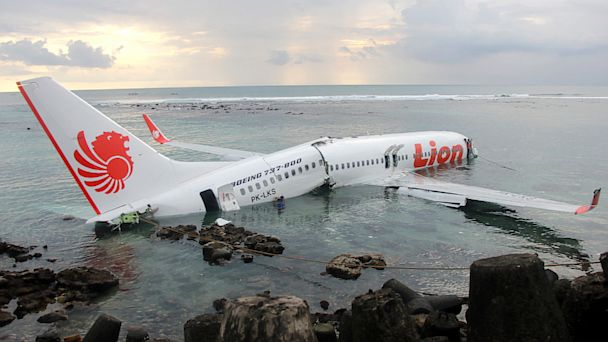 PHOTO: Crashed Lion Air plane in Bali