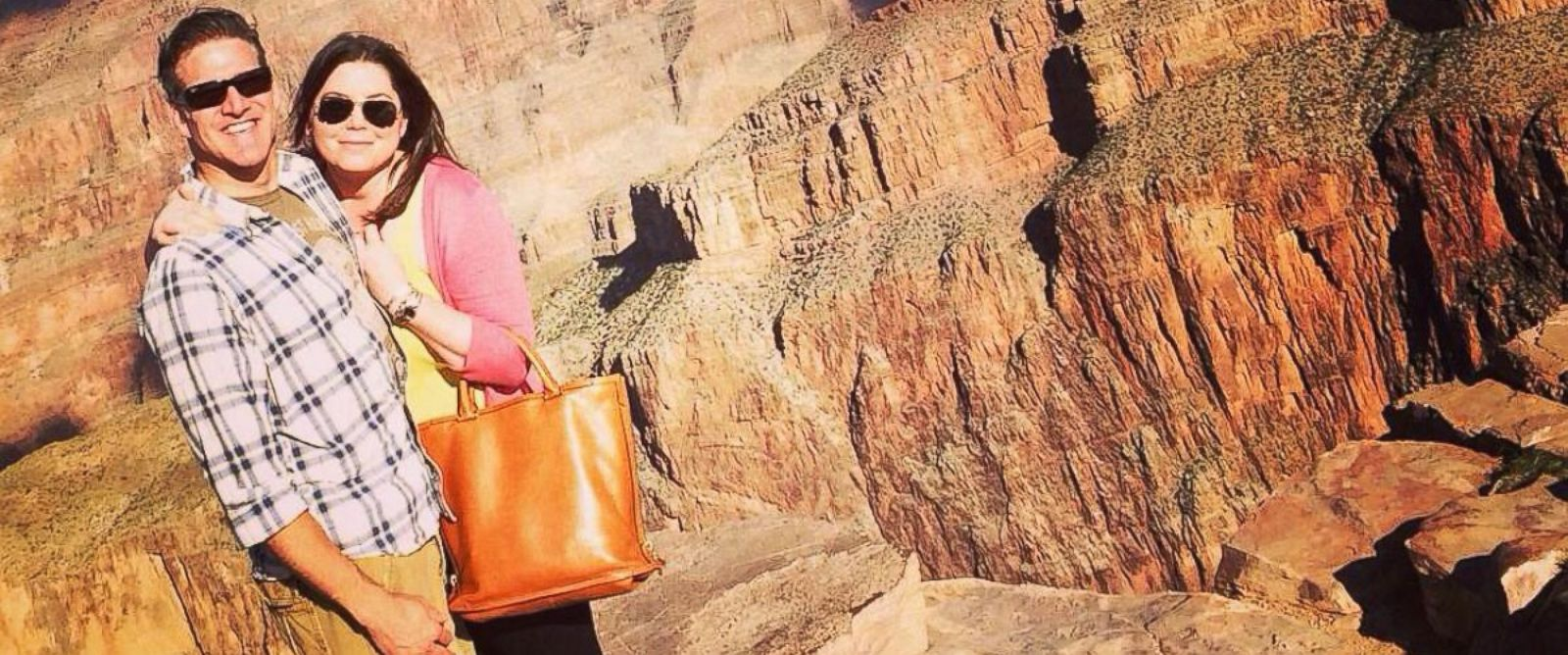 In this Oct. 21, 2014, Brittany Maynard and her husband, Dan Diaz, pose at the Grand Canyon National Park in Arizona.