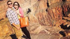 In this Oct. 21, 2014, Brittany Maynard and her husband Dan Diaz pose at the Grand Canyon National Park in Arizona. The 29-year-old terminally ill woman has fulfilled a wish on her bucket list: visiting the Grand Canyon.