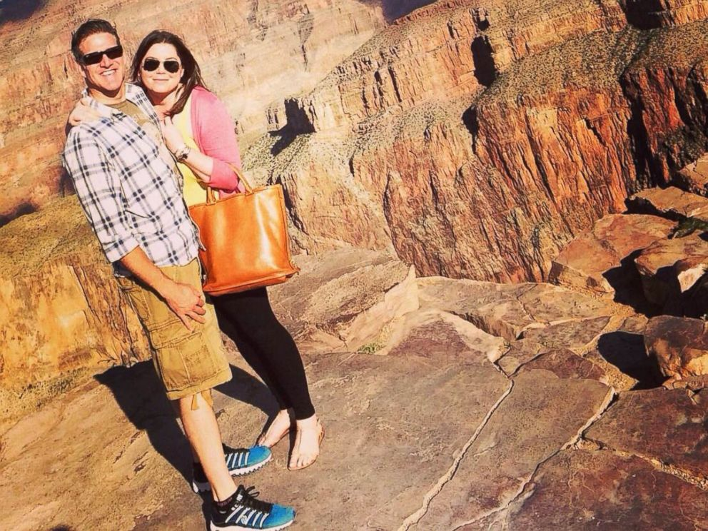 PHOTO: In this Oct. 21, 2014, Brittany Maynard and her husband Dan Diaz pose at the Grand Canyon National Park in Arizona.