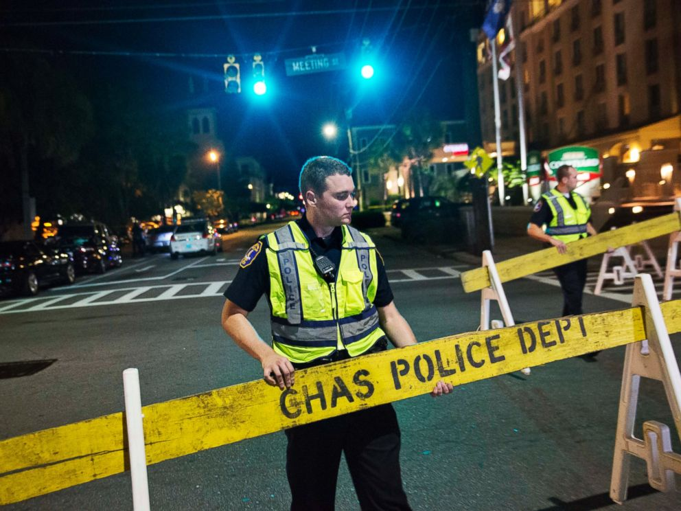 PHOTO: Police close off a section of Calhoun Street near the Emanuel AME Church following a shooting, June 17, 2015, in Charleston, South Carolina.