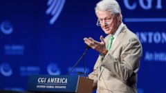 PHOTO: Former President Bill Clinton speaks during the Clinton Global Initiative America, at the Sheraton Downtown, in Denver, June 25, 2014.