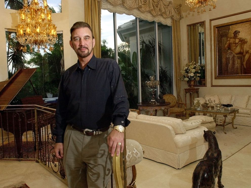PHOTO: David Edwards won $27 million after taxes in the Powerball lottery, stands in his home on Nov. 14, 2001, in Palm Beach Gardens, Fla.