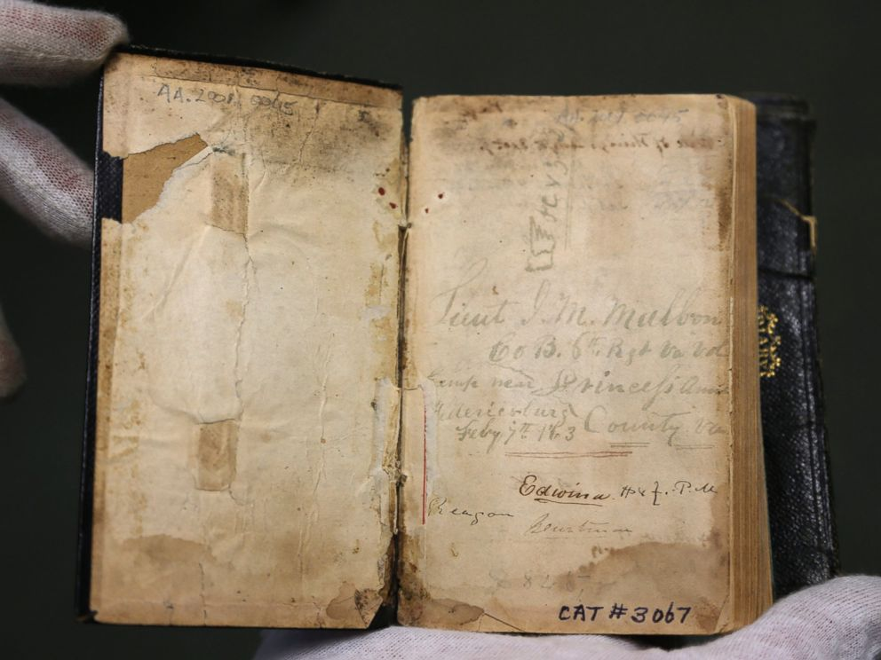 PHOTO: The diary of Confederate officer James M. Malbone is displayed at the New York State Military Museum, Oct. 9, 2014, in Saratoga Springs, N.Y.