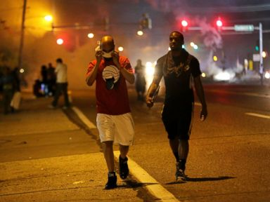 Police Fire Tear Gas at Protesters in Ferguson