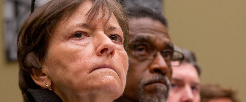 PHOTO: From left, Susan Hedman,Darnell Earley, Dayne Walling, and Marc Edwards as they appeared before a House Oversight and Government Reform Committee hearing, in Washington, March 15, 2016, to examine the ongoing lead water crisis in Flint, Michigan.