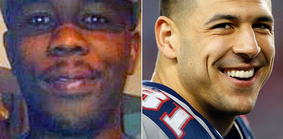 PHOTO: Odin Lloyd and Aaron Hernandez