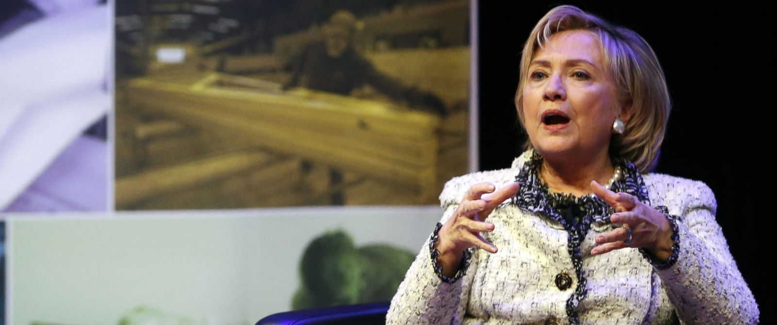 PHOTO: Former Secretary of State Hillary Rodham Clinton speaks during the Philanthropy New Yorks annual meeting, May 7, 2014, at the Ford Foundation in New York.
