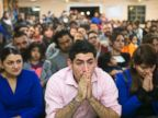 PHOTO: Viridiana Carrizales of San Antonio, Texas, Jose Patino, of Phoenix, and his girlfriend Reyna Montoya of Mesa, react during a watch party for President Obamas speech on immigration in Phoenix, Nov. 20, 2014.