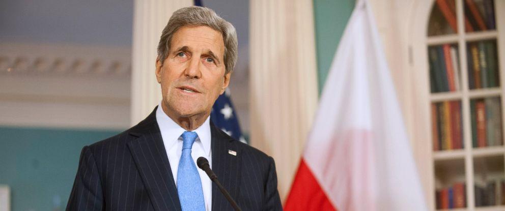 PHOTO: Secretary of State John Kerry speaks at the State Department in Washington, Jan. 7, 2015.