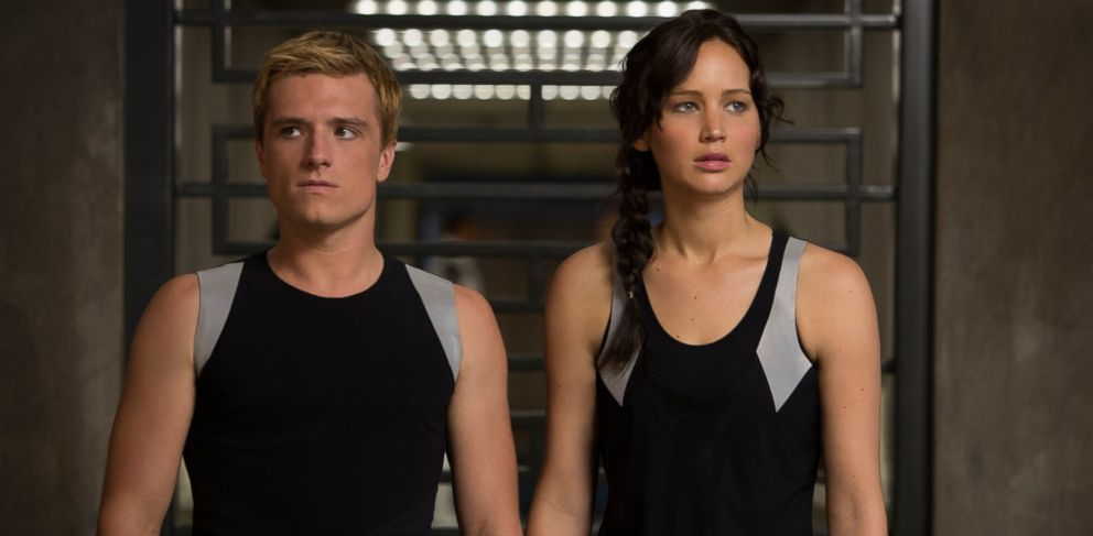 PHOTO: This image released by Lionsgate shows Josh Hutcherson as Peeta Mellark, left, and Jennifer Lawrence as Katniss Everdeen in a scene from The Hunger Games: Catching Fire.