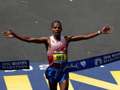 American Meb Keflezighi Wins Men's Boston Marathon