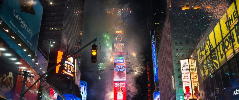Fireworks erupt after midnight in Times Square during the New Years Eve celebration, Thursday, Jan. 1, 2015, in New York. Thousands braved the cold to watch the annual ball drop and ring in the new year.