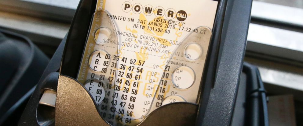 PHOTO: A Powerball lottery ticket is printed in Dallas, Saturday, Jan. 9, 2016.