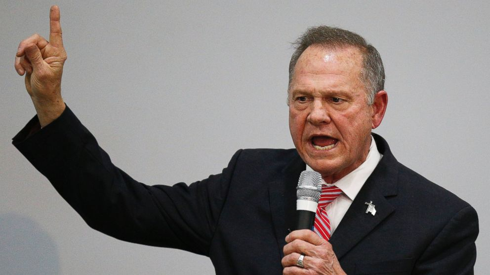 The Note: Trump has to show his cards on whether he backs Roy Moore