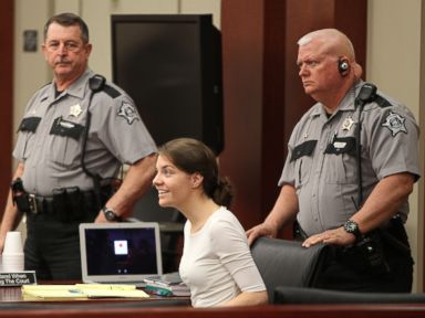 PHOTO: Shayna Hubers attends her murder trial in Campbell County, Kentucky, April 13, 2015.