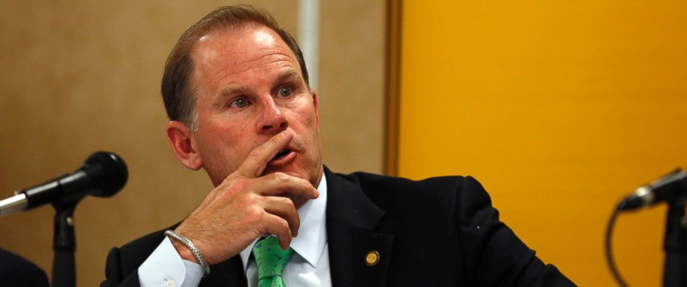 PHOTO: University of Missouri President Tim Wolfe participates in a news conference in Rolla, Mo. on April 11, 2014.