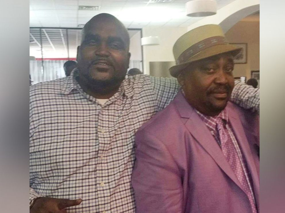 PHOTO: This photo provided by the Parks & Crump, LLC shows Terence Crutcher, left, with his father, Joey Crutcher. Crutcher, an unarmed black man was killed by a white Oklahoma officer Friday, Sept. 16, 2016, who was responding to a stalled vehicle.