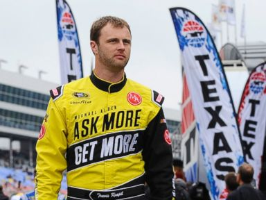PHOTO: In this April 6, 2014, file photo, Travis Kvapil walks the track before a rain delayed start for the NASCAR Sprint Cup Series auto race at Texas Motor Speedway in Fort Worth, Texas.