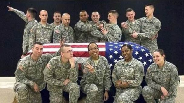 AP Wisconsin National Guard ml 140219 16x9 608 Honor Guard Soldier Suspended Over Gag Casket Photo Post