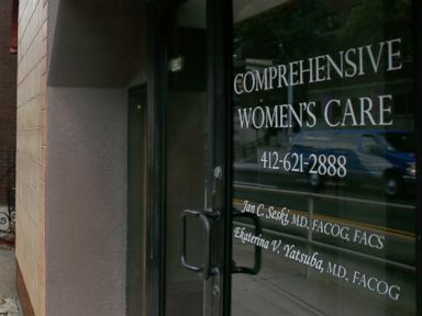 PHOTO:The entrance to the office of Dr. Jan Casimir Seski, is seen, Aug. 2, 2015, in Pittsburgh.