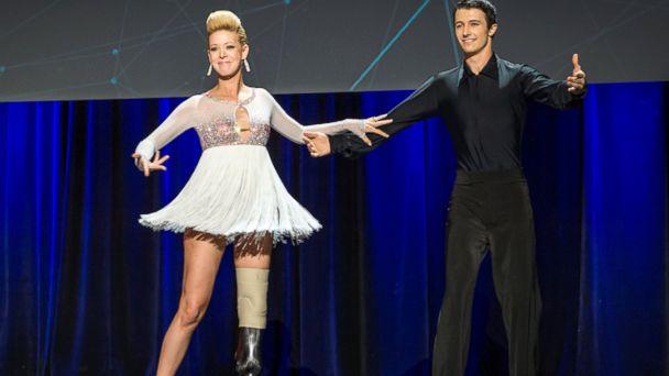AP adrianne haslet davis jef 140319 16x9 608 Dancer Injured in Boston Marathon Bombings Performs at TED