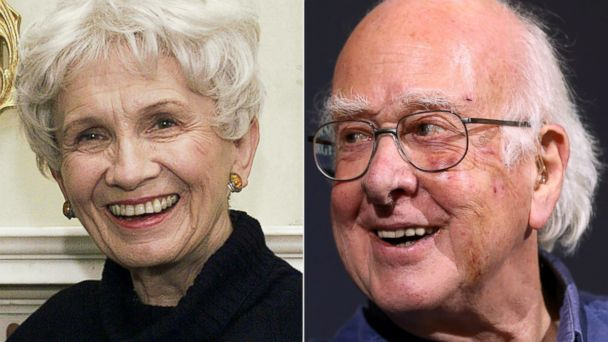 AP alice munro peter higgs nobel winners thg 131011 16x9 608 Nobel Winners Hard to Reach, Notified Via Twitter, Neighbors, Voicemail